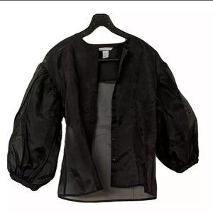 3/$150 - 100% silk organza button up blouse